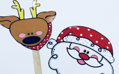 Masks for Spanish Christmas Songs {Freebie}