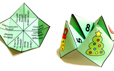 Christmas Fortune Teller in Spanish {Freebie}
