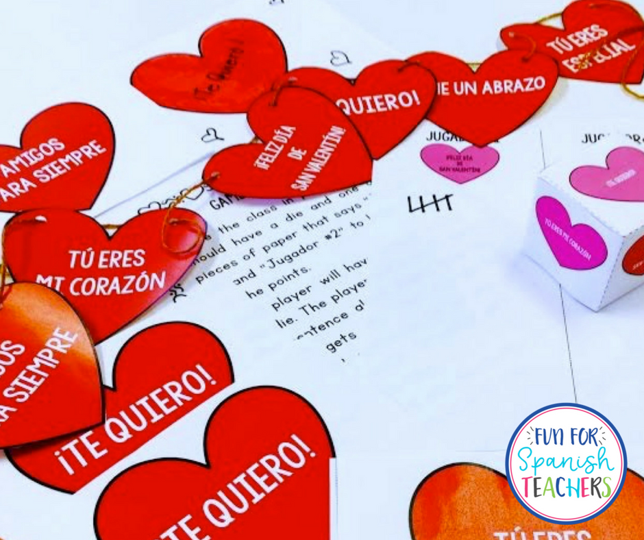 Fun Valentine's Game to Play in Spanish Class