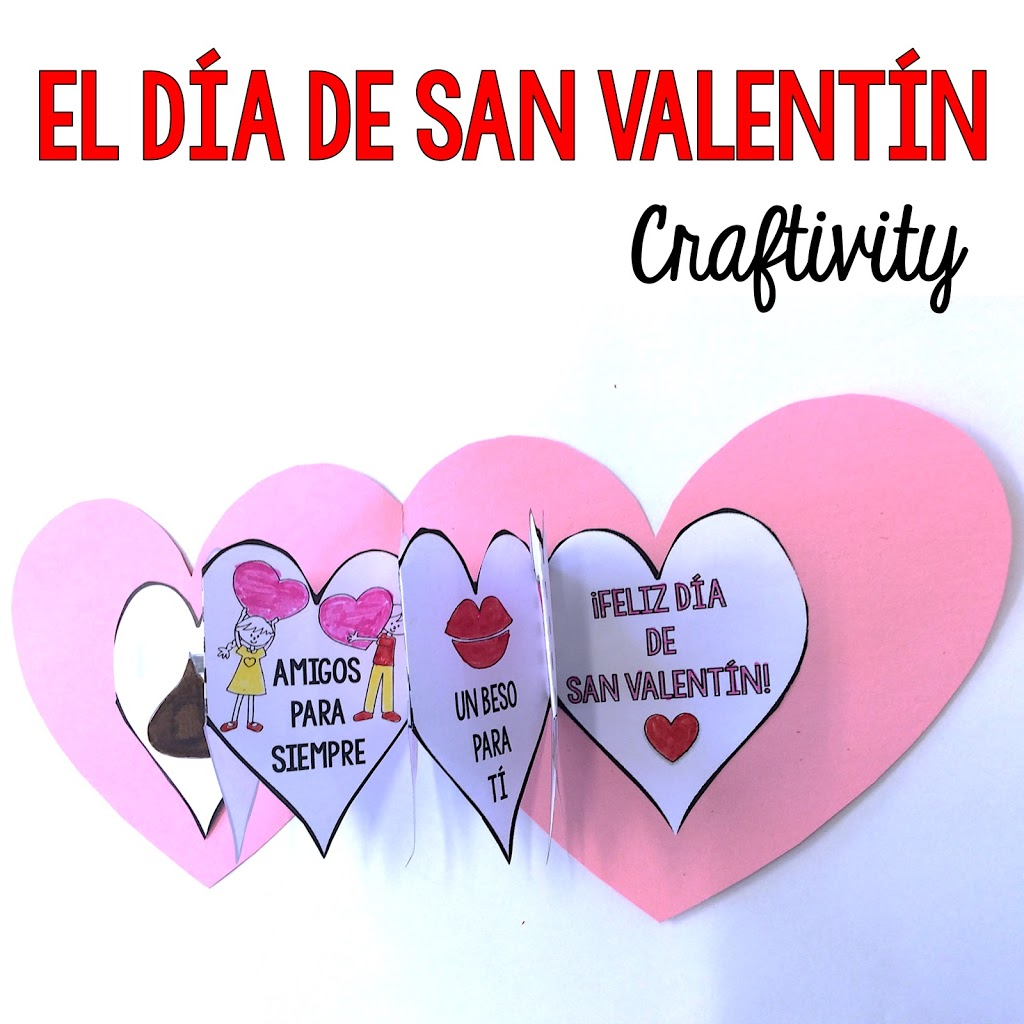 Valentine's Day Craft for Spanish Class