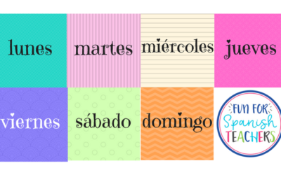 Teaching Days of the Week in Spanish