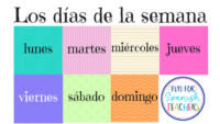 Teaching Days of the Week in Spanish