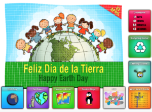 Online Free Spanish Has Tons Of Great Activities To Celebrate Earth Day In Class From Coloring Pages Matching Games Word Search Puzzles