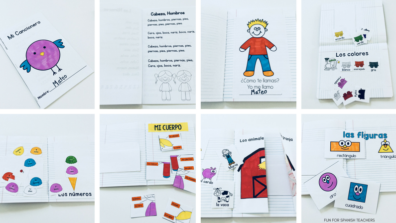 Spanish Interactive Notebooks in Grades K-1