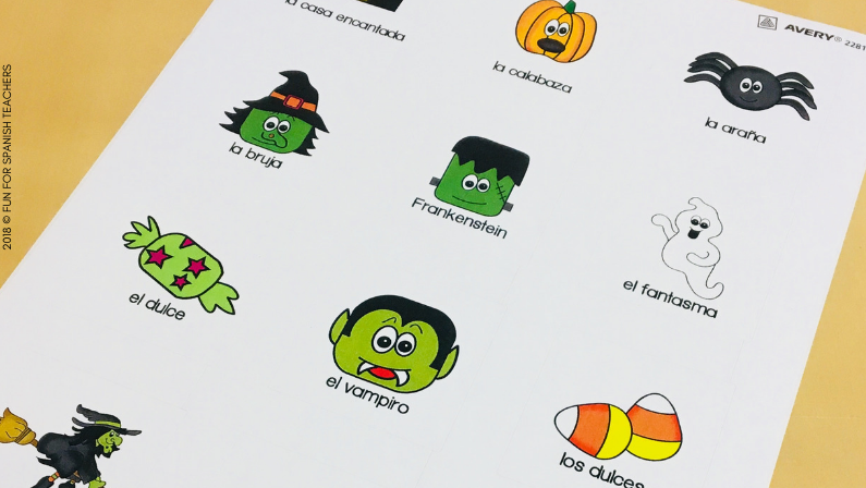FREE HALLOWEEN STICKERS IN SPANISH