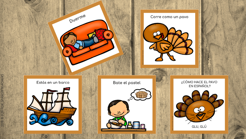 THANKSGIVING MOVEMENT CARDS IN SPANISH