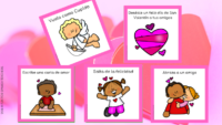 Valentines Movement Cards in Spanish