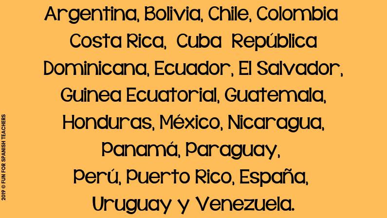 SPANISH SPEAKING COUNTRIES RESOURCES FOR ELEMENTARY