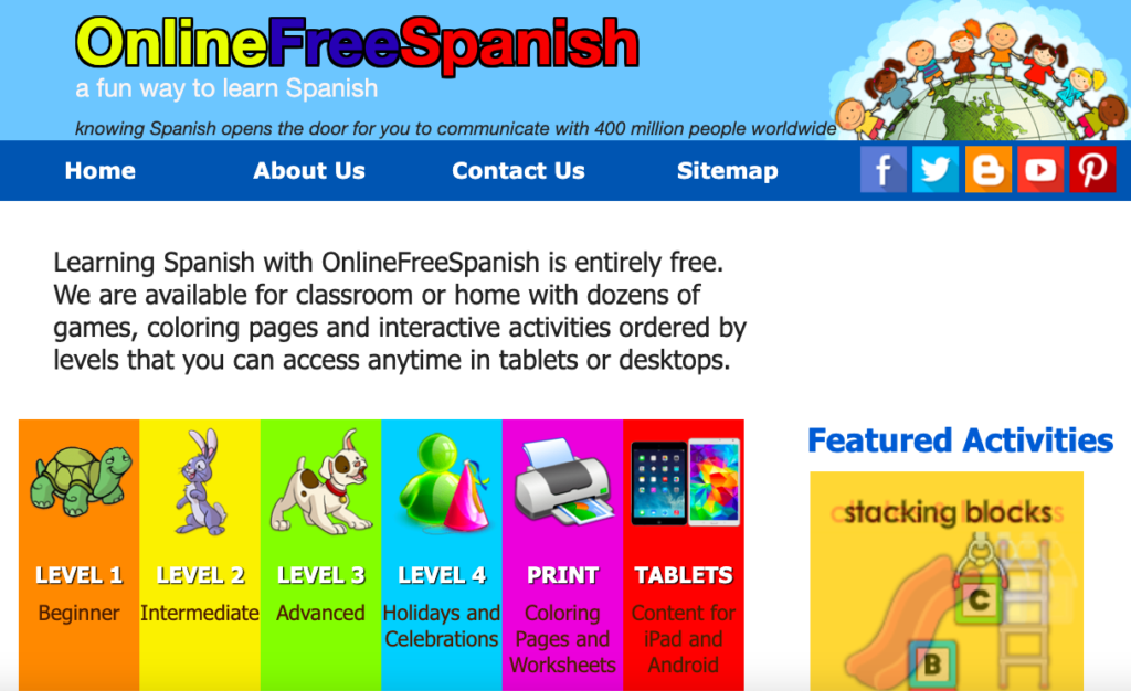 free online spanish games for beginners