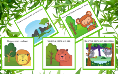 ANIMAL MOVEMENT CARDS IN SPANISH